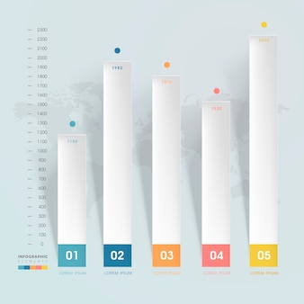 Einfaches infografik-vorlagendesign mit banneroptionen