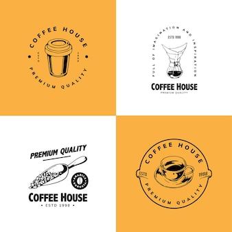 Einfaches kaffee-logo-design