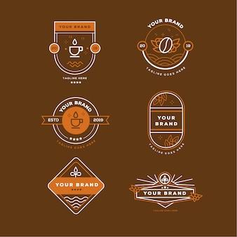 Einfaches kaffee-logo