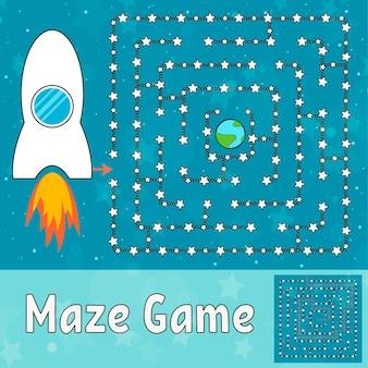 Einfaches labyrinth-arbeitsblatt für kinder