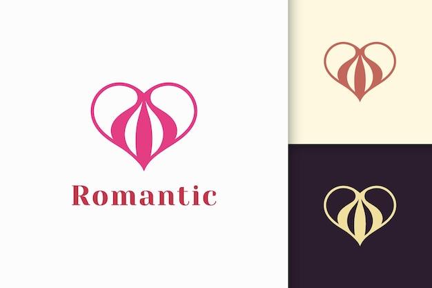 Einfaches liebeslogo steht für romantik oder beziehung