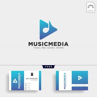 Einfaches logo der musikclip-kinomedienunterhaltung