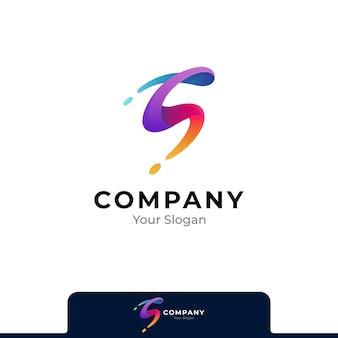Einfaches logo mit farbverlauf des buchstaben s