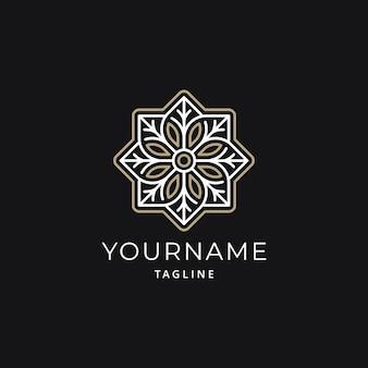 Einfaches luxus-mandala-logo-design