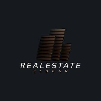 Einfaches minimalistisches logo-design für immobiliengebäude
