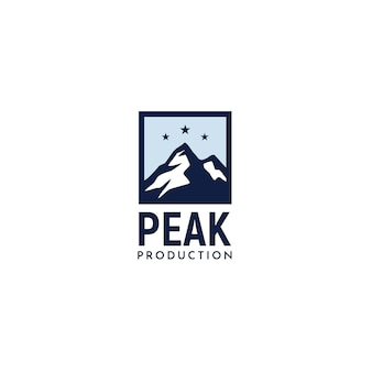 Einfaches modernes montain logo