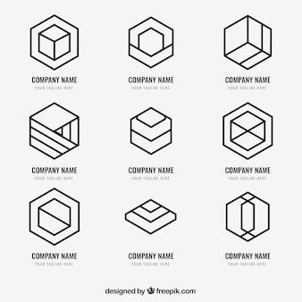 Einfaches monoline-logopack