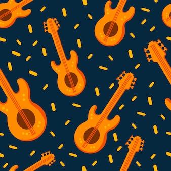 Einfaches muster der jazzhintergrundjazz-verzierung