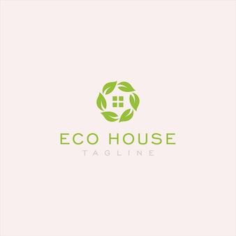 Einfaches öko-haus-logo