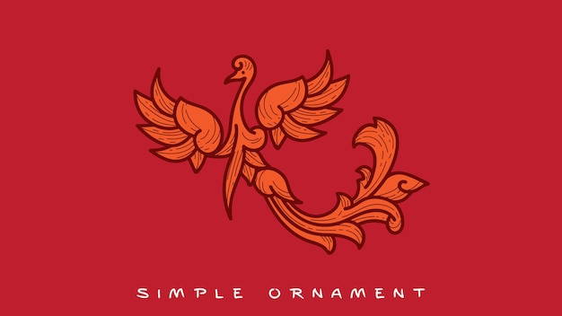 Einfaches ornament phoenix