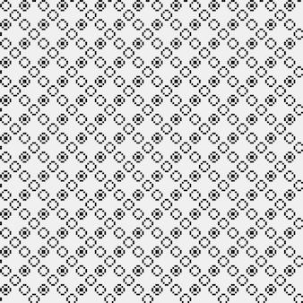 Einfaches pixeliges muster mit monochromen geometrischen formen. nützlich für textil- und innenarchitektur. strenge neutrale art.
