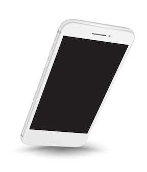 Einfaches platzieren des smartphone-modells auf dem bildschirm