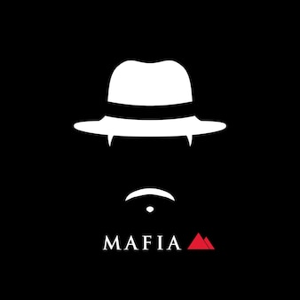 Einfaches porträt des italienischen mafiosos mit hut