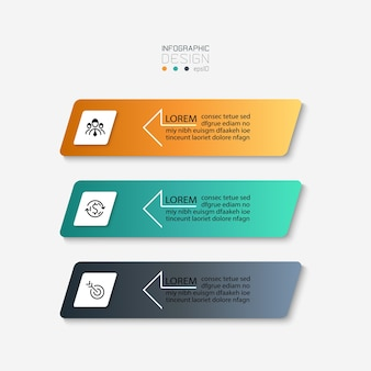 Einfaches quadratisches infografikdesign.