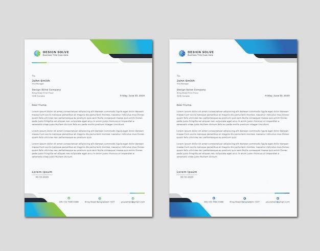 Einfaches sauberes letterhead-design