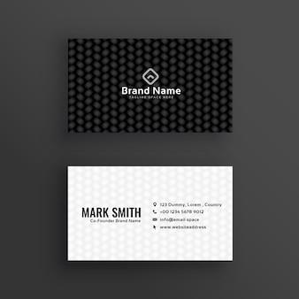 Einfaches schwarzes und weißes dunkles visitenkartedesign