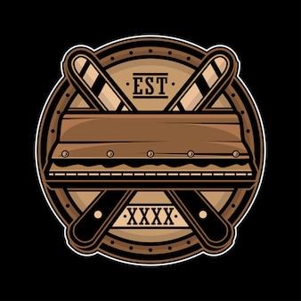 Einfaches siebdruck-rakel-logo