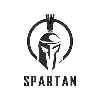 Einfaches spartanisches vektorschablonen-logodesign