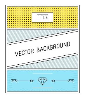 Einfaches und geometrisches hintergrunddesign
