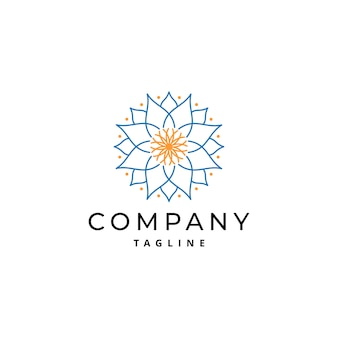 Einfaches und luxuriöses mandala ornament logo design