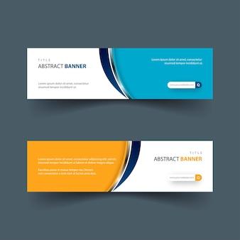 Einfaches und modernes banner-design-set