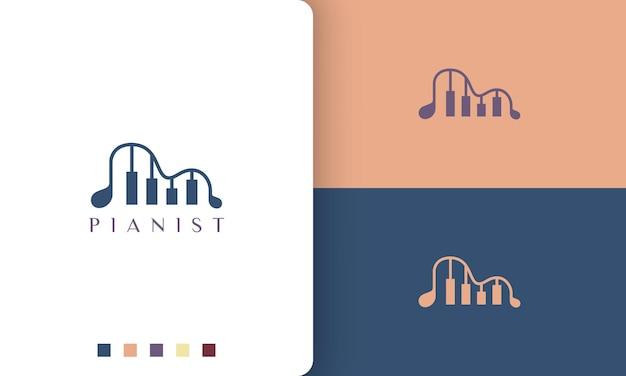 Einfaches und modernes logo oder symbol für klavier-app