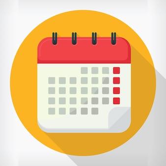 Einfaches wandkalender-design im flachen stil