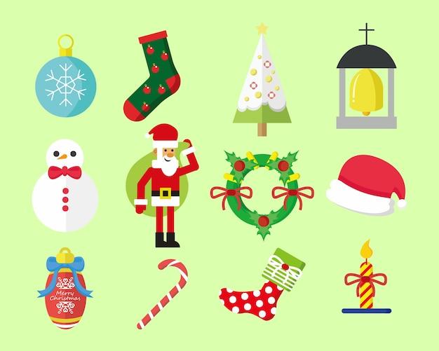 Einfaches weihnachts-grafikpaket