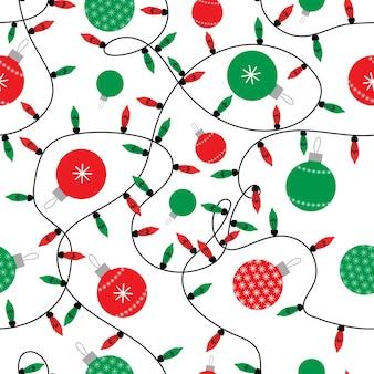 Einfaches weihnachtsnahtloses muster minimalistischer vektorhintergrund in den roten und grünen farben