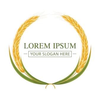 Einfaches weizenkorn-logo.