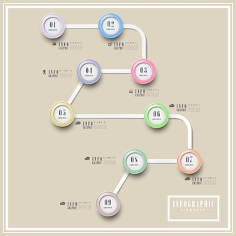Einfachheit infografik schablonendesign mit kreisförmigen elementen