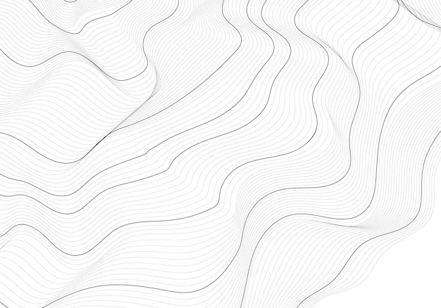 Einfarbige abstrakte konturlinie abbildung
