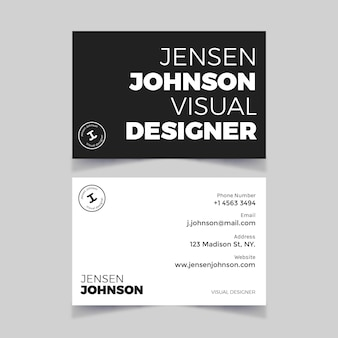 Einfarbiges visitenkarten-design