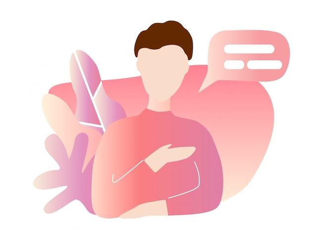 Eingehender anruf auf dem smartphone-bildschirm. flache design-vektor-illustration. modernes konzept für web-banner, websites, infografiken