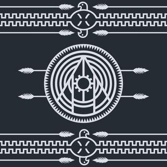 Einheimisches ethnisches kunstsymbol