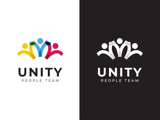 Einheit menschen teamarbeit logo-design-konzept