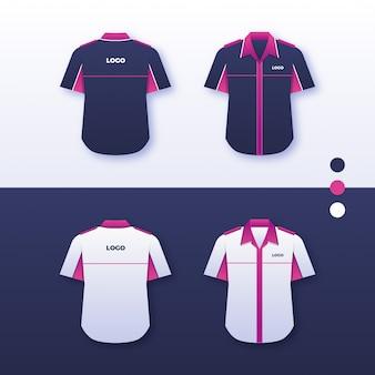 Einheitliches hemddesign der firma
