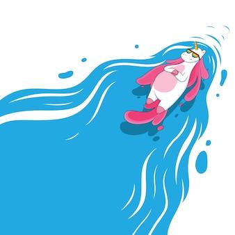 Einhörner schwimmen