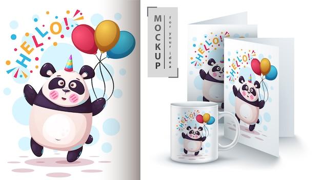 Einhorn, bär, panda und merchandising