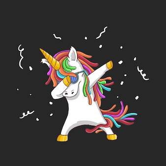 Einhorn cool dance