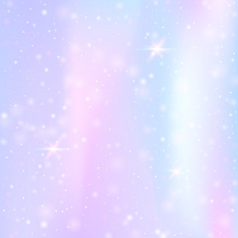 Einhorn hintergrund mit regenbogennetz. buntes universumsbanner in prinzessinfarben.
