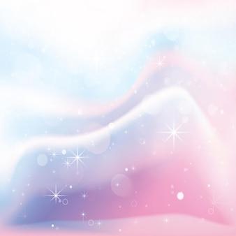 Einhorn holographischer farbverlaufshintergrund. vektor-illustration.