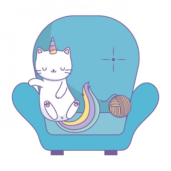 Einhorn katze cartoon