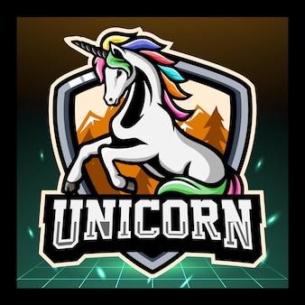 Einhorn maskottchen esport logo-design logo