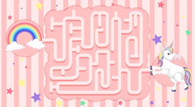 Einhorn maze puzzle spiel