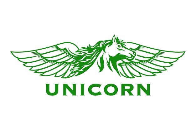 Einhorn pferd logo