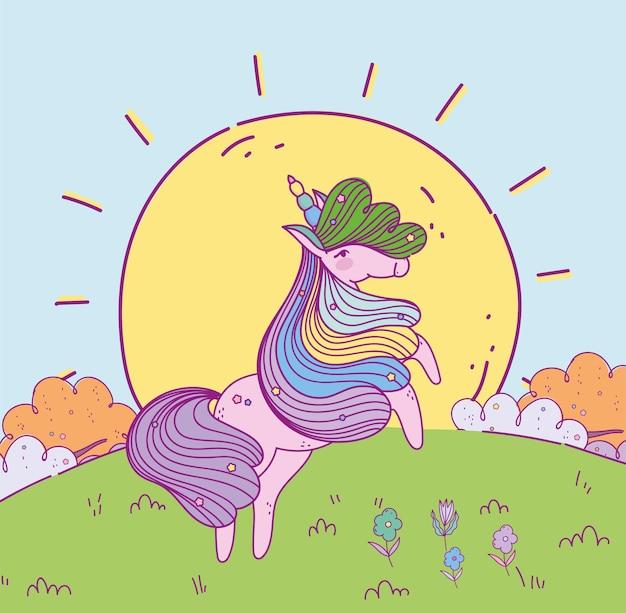 Einhorn regenbogenhaar süß