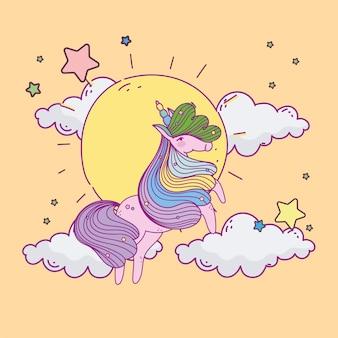 Einhorn sonnenhimmel