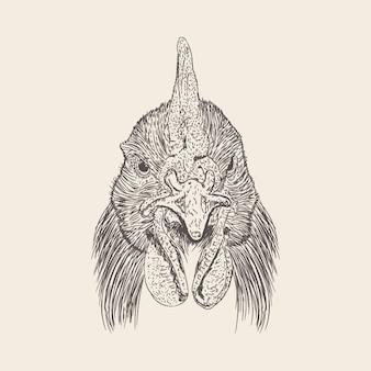 Einhornkopf illustration der hand gezeichneten auslegung