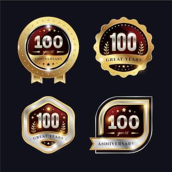 Einhundertjährige etikettensammlung
